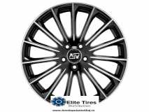 Jante aliaj MSW 30 GLOSS BLACK FULL POLISHED 7.5x17 5x108 ET45