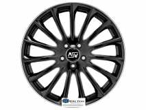 Jante aliaj MSW 30 GLOSS BLACK POLISHED LIP 7.5x17 5x112 ET48